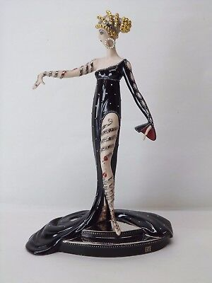 House Of Erte - Pearls And Rubies - Limited Edition Figurine - Franklin Mint