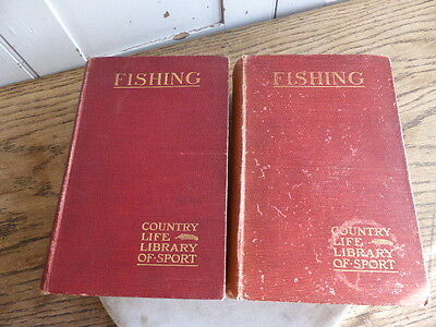 FISHING - The Country Life Library of Sport - Fishing.  2 volumes dated 1904