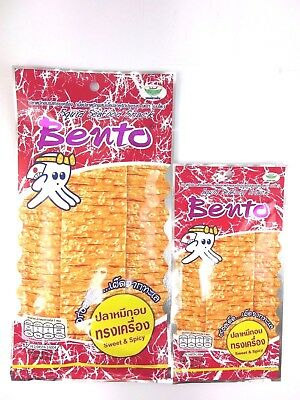 BENTO SQUID-SEAFOOD SNACK SWEET-SPICY-FLAVOUR-THAIFOOD-BUY SIZE20g GET 5 g Free