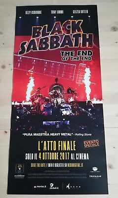 BLACK SABBATH THE END OF THE END 2017 Original Event Poster Affiche Cinema 33x70