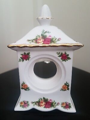 royal albert old country roses carriage mantel clock 1962