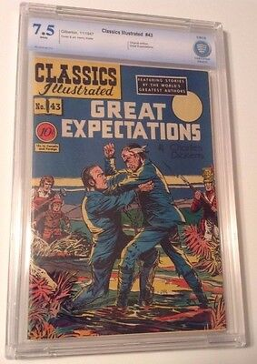 Classics Illustrated #43 Great Expectations, Original Edition, CBCS 7.5