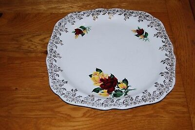 Lord Nelson Pottery Square Plate..Floral design  8.65