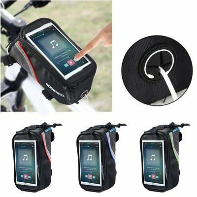 ROSWHEEL Cycling Bike Bag Front Tube Bag For Cell Phone Touch Screen Bag FG