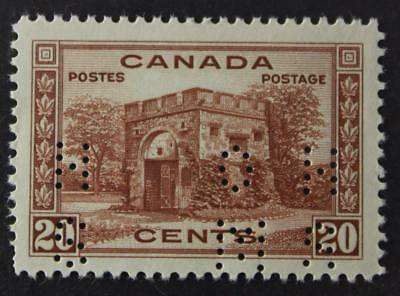 #O243 MNH OG, OHMS Perfin Issue, Well Centered Fort Garry Gate, 1938 Issue