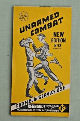 "1944 ""UNARMED COMBAT"" Booklet for Home Guard & Service Use by BERNARDS WW2"