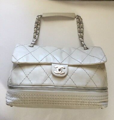CHANEL IVORY QUILTED Leather Retro Chain Accordion Flap Bag - EUR ... 4da6521225468