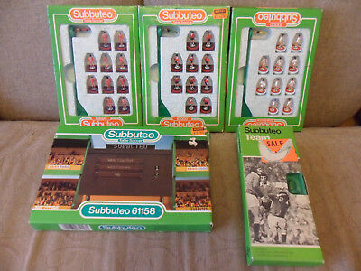 Vintage and Modern Subbuteo Teams and Score Board 63000 + 61158 Excellent