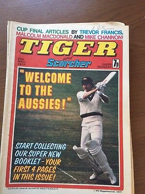 TIGER and scorcher comics 1977  12 issues