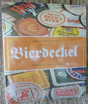 JAGER & SAMMLER ALBUM FOR BEER MAT COASTERS COLLECTION - 15 Pages for 90 mats