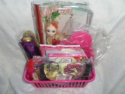 Monster High Ever After High Gift Set With Dvds Hat Apple White Doll Brolly