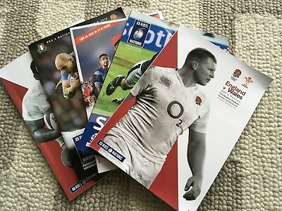 England Rugby 2016 Grand Slam Programmes