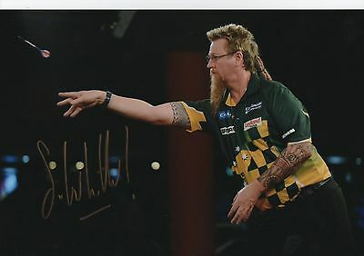 Simon Whitlock Signed 12x8'' Photograph - Darts , The Wizard