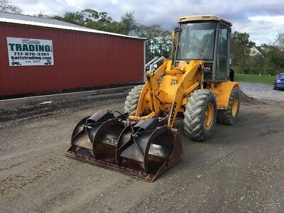 1997 JCB 407B 4x4 Wheel Loader w/ Cab & Grapple Bucket! No Reserve!!