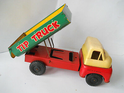 1960s  TIN PLATE FRICTION TIP TRUCK  VGC maked made in Gt britain BRIMTOY ? VGC
