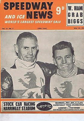 WEMBLEY LIONS / GEORGE WHITE SWINDONSpeedway News May251955