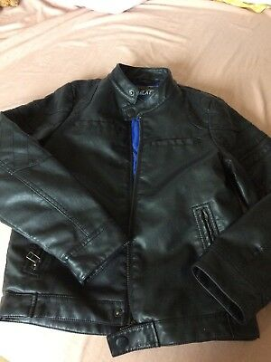 Boys Next Leather Look Jacket 9 Years