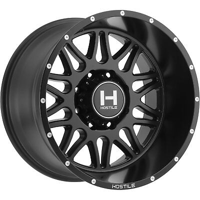 20x12 Black Hostile Blaze (H111) Wheels 6x135 -44 Lifted Fits Ford Expedition