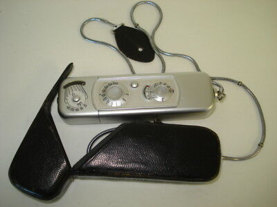 Vintage Minox German Subminiature Spy Camera With Case And Chain