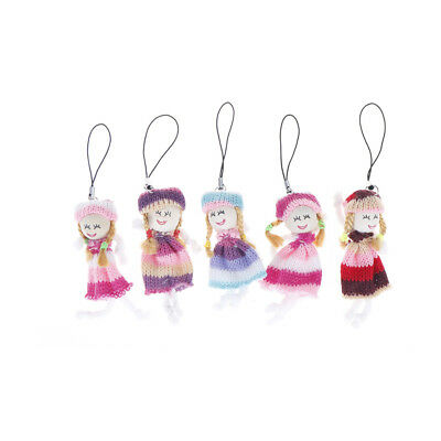 5pcs Mini Doll Key Chain Phone Ornament Bag handbag Pendant fn