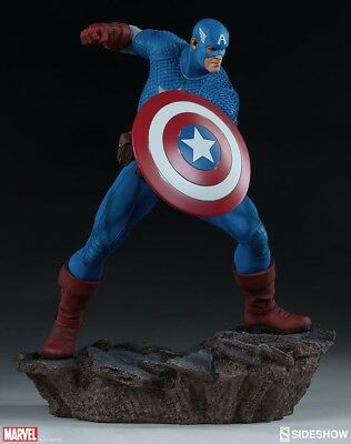Avengers Assemble Captain America Statue Sideshow Collectibles 1:5 Scale Marvel