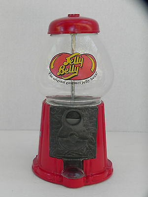"""Metal and Glass Jelly Belly Coin Operated Candy Machine 11.5"""""""