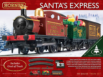 BNIB Hornby 00 gauge Santa's Express Train Set (New for 2017 With Extra Track)