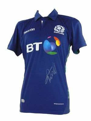 Finn Russell Signed Scotland Rugby Shirt+ Photo Proof *see Finn Sign This Shirt*