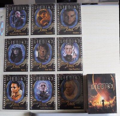 Chronicles of Riddick Rittenhouse Archives - 2004 FULL BASE SET & RARE CAST SET