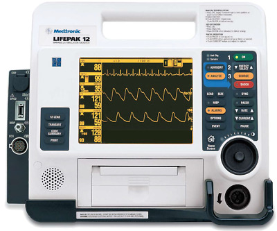 LIFEPAK 12 Loaded - Biphasic 12-Lead ECG AED Pacing SPo2 NIBP CO2 & More! Tested