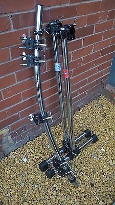 gibraltar drum rack c/s 5 X boom clamps & 2 X memory lock clamps