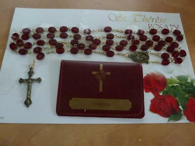 St. Therese Rosary With Pouch And Story
