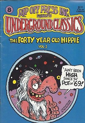 1988 Rip Off Press Presents Underground Classics #8 Comic Book VOL. 1