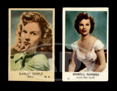 Pair of 1940s-50s RKO Color Trading Cards - Teen & Young Adult Shirley Temple