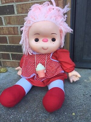 "ice cream doll vintage hard to find 24"" large with cone 80s"