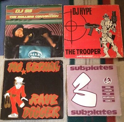 4+vinyls.The trooper,mc lethal,dj ss.12inch subbase subplates 10in