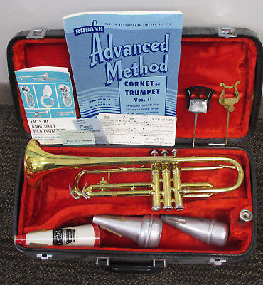 Vintage KING Model 600 TRUMPET in CASE w/EXTRAS~H&B STRAIGHT MUTE