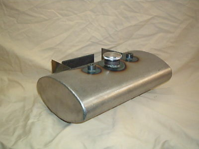 Oval oil tank with battery tray for choppers or bobbers