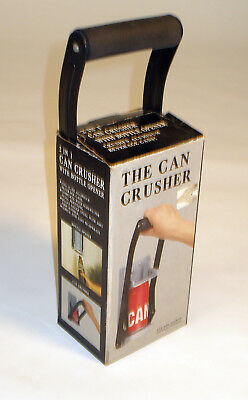 """Vintage 80's New in Box """"The Can Crusher"""", Wall Mounted Aluminum Can Crusher"""