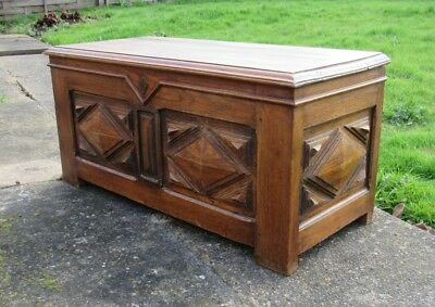 Oak Coffer , Early 20th Century.
