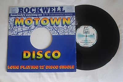 ROCKWELL ' Somebody's Watching Me ' Motown 12 inch vinyl record 1983 TMGT 1331