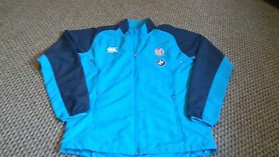 mens ENGLAND 7's RUGBY UNION TRAINING JACKET Size M vgc