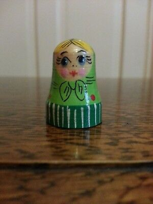 Wooden Russian Doll Thimble