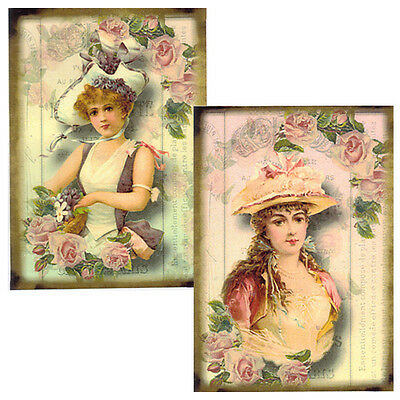 ViCToRiaN MaiDeNs WiTH RoSeS ShaBby WaTerSLiDe DeCALs