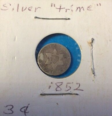 1852 (.03)Three Cent Silver Trime Coin