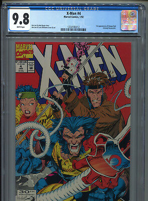 1992 Marvel X-Men #4 1St Appearance Omega Red Cgc 9.8 White Pages B