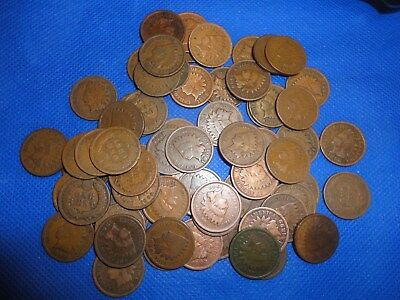 64+ Indian Head Cents,decent,business Bronze ,variety3 Average Circulated,read