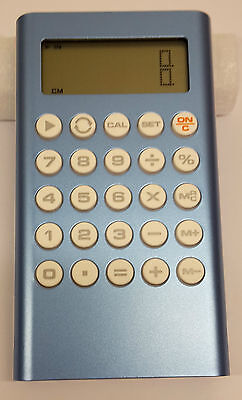 Blue Metal Pocket Calculator - Small With Unit Conversion, For School, Office