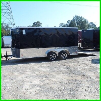 2017 7x14 2' v nose Black/An16ft inside enclosed cargo motorcycle Black/An New