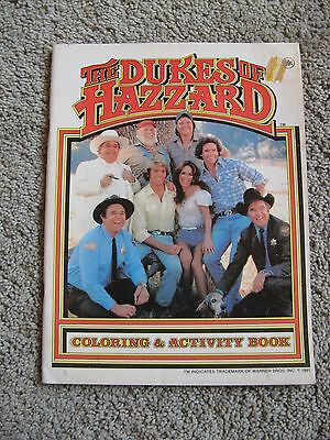 The Dukes of Hazzard County Picnic Coloring Activity Book Warner Brothers 1981